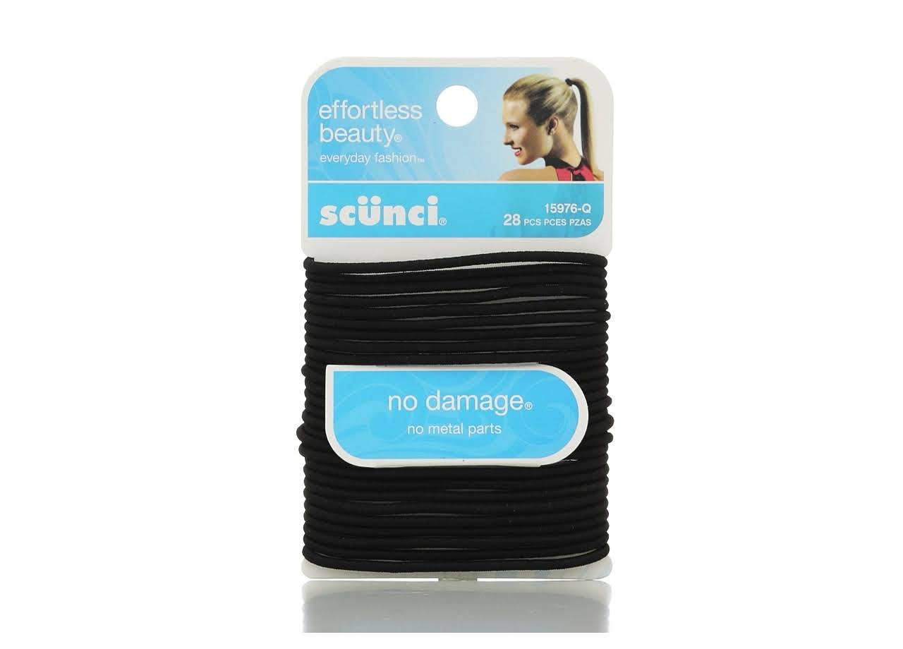 Scunci No Damage Elastic Hair Bands - Black