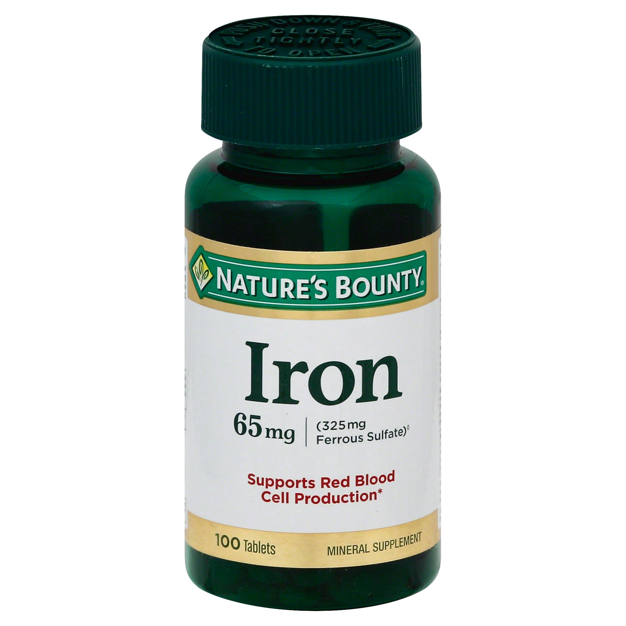 Nature's Bounty Iron - 65mg, 100 Tablets
