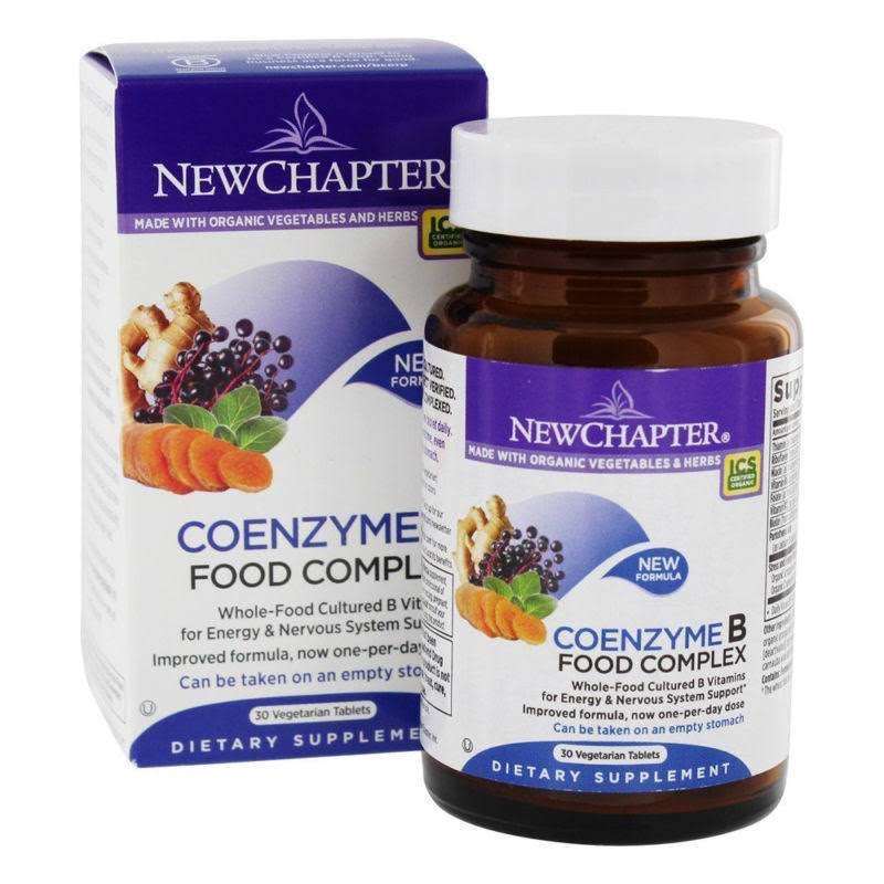New Chapter Coenzyme B, Food Complex, Vegetarian Tablets - 30 tablets