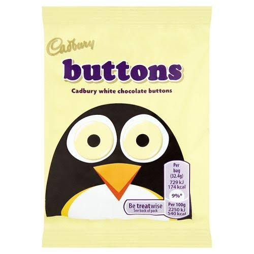 Cadbury White Chocolate Buttons - 32g