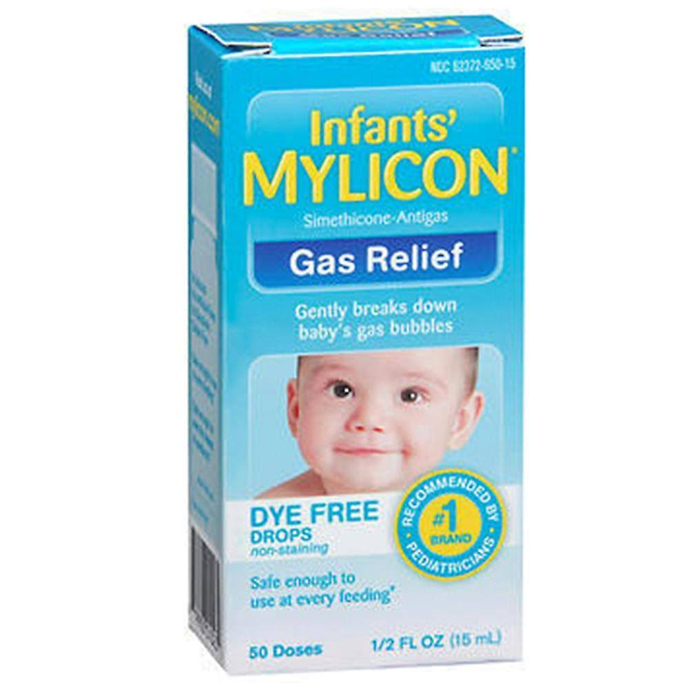 Mylicon Infants' Simethicone Gas Relief Dye Drops - 1/2oz