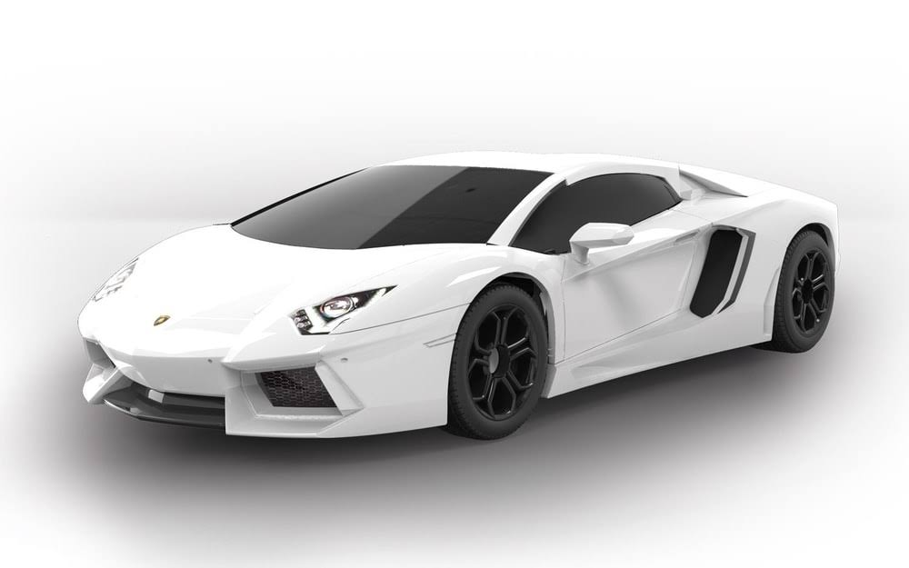 Airfix J6019 Quick Build Car Model Kit - Lamborghini Aventador, White