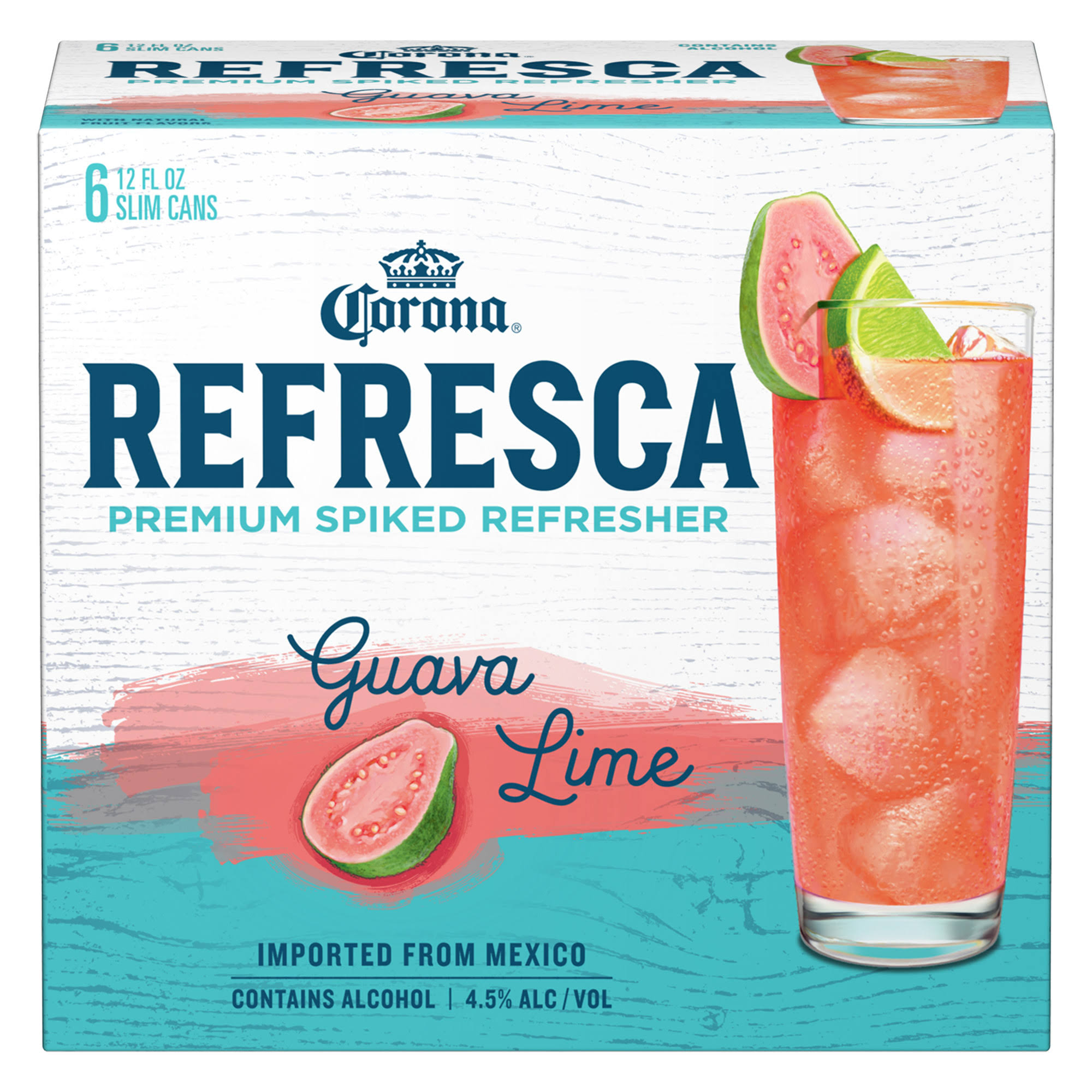 Corona Refresca Malt Beverage, Guava Lime - 6 pack, 12 fl oz cans