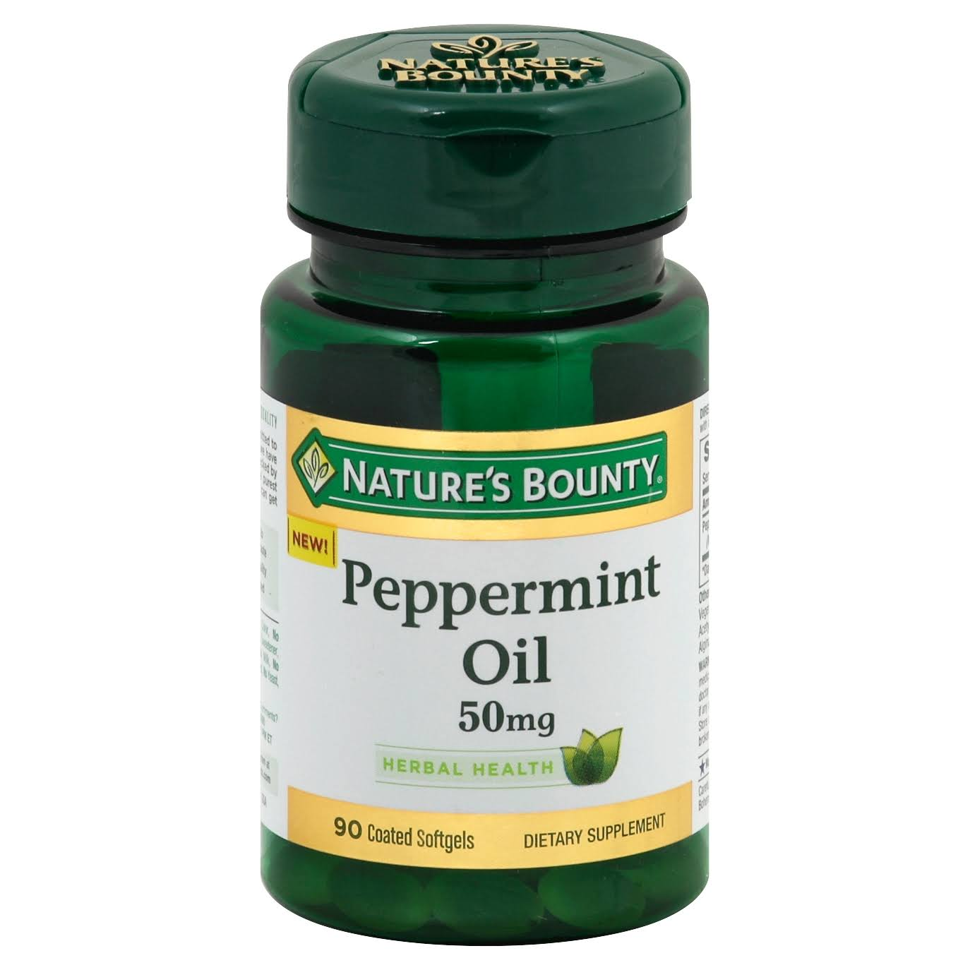 Natures Bounty Peppermint Oil, 50 mg, Coated Softgels - 90 softgels