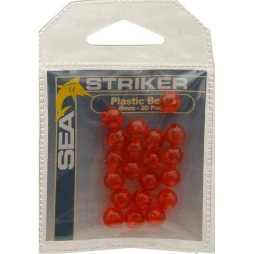 Sea Striker Round Beads - Red