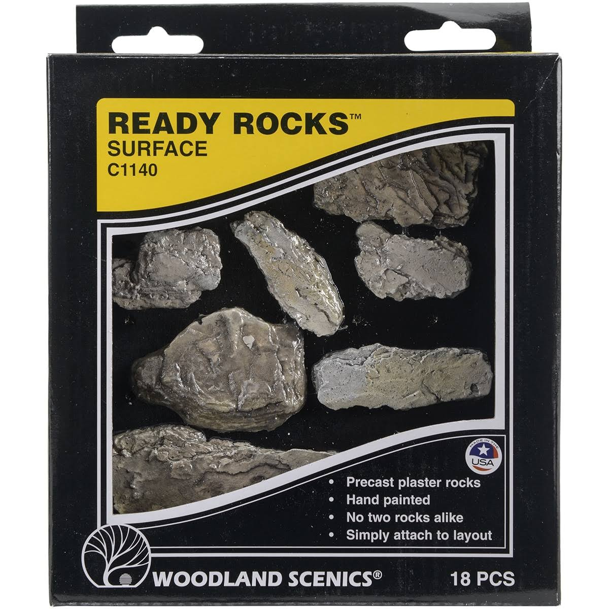 Woodland Scenics C1140 Ready Rocks - Surface, x18