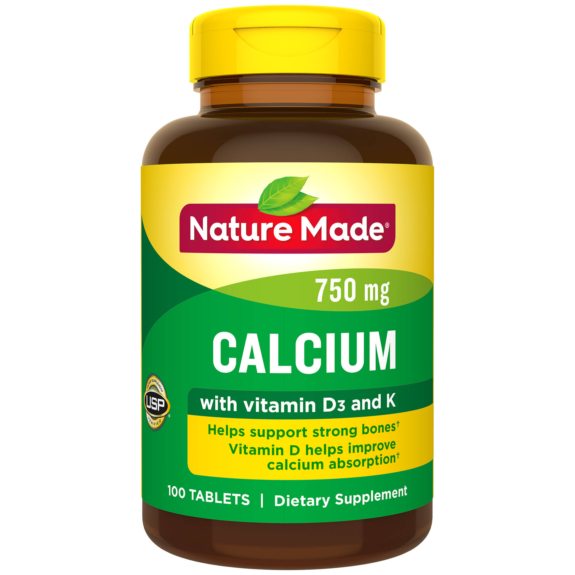 Nature Made Calcium with Vitamin D and K - 100ct, 750mg