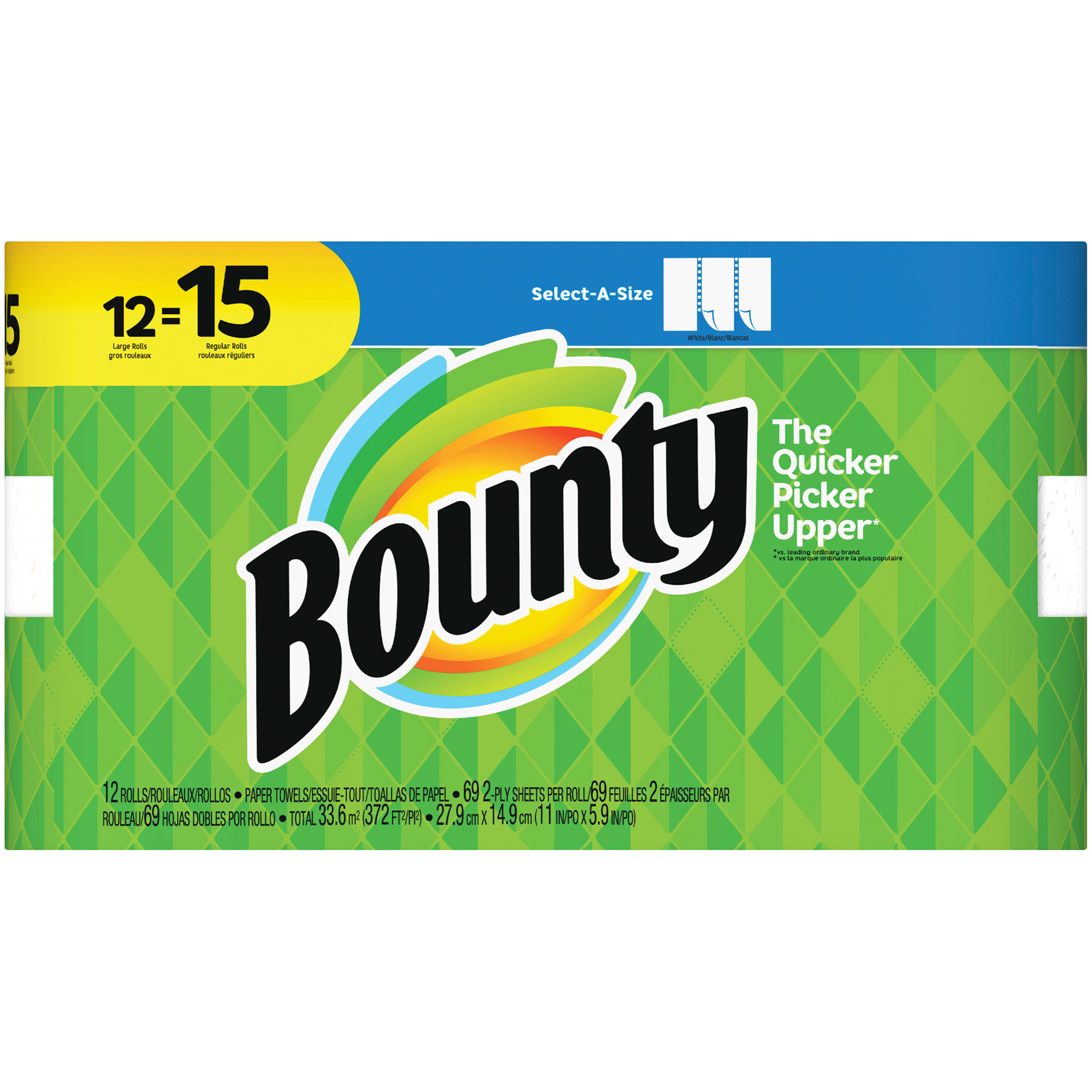Procter & Gamble Bounty Paper Towel - Large Roll, 15pk
