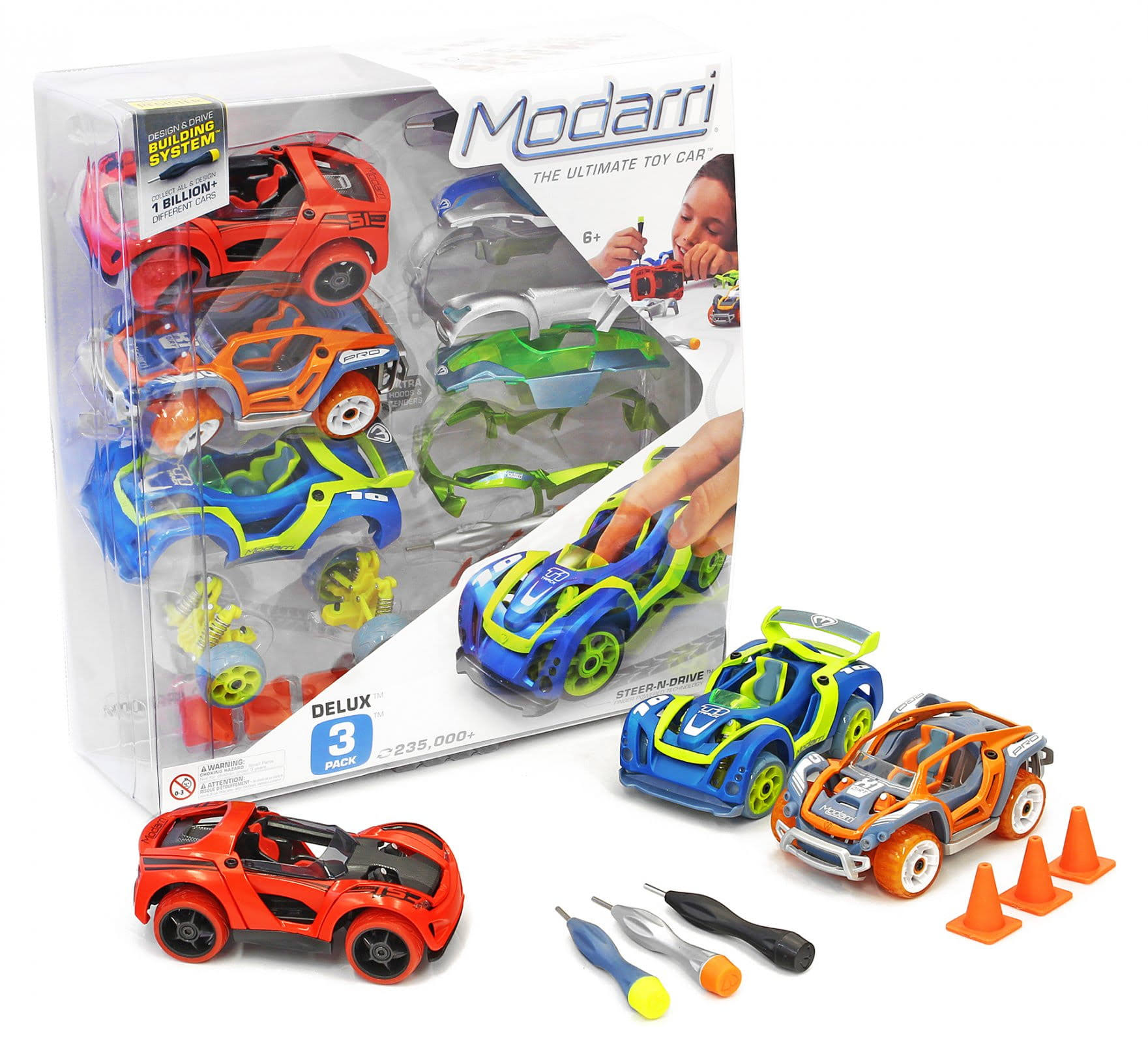 Thoughtfull Toys Inc Delux Car Set - x3