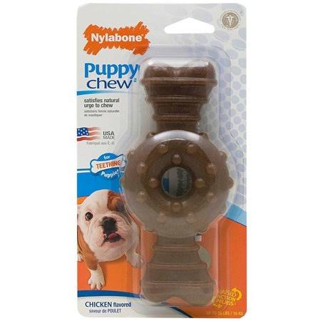 Nylabone Puppy Ring Bone Chew - Chicken