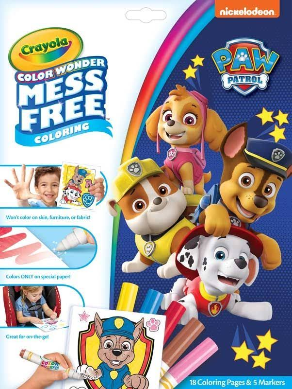 Crayola Color Wonder Coloring Kit - Paw Patrol, 7pcs