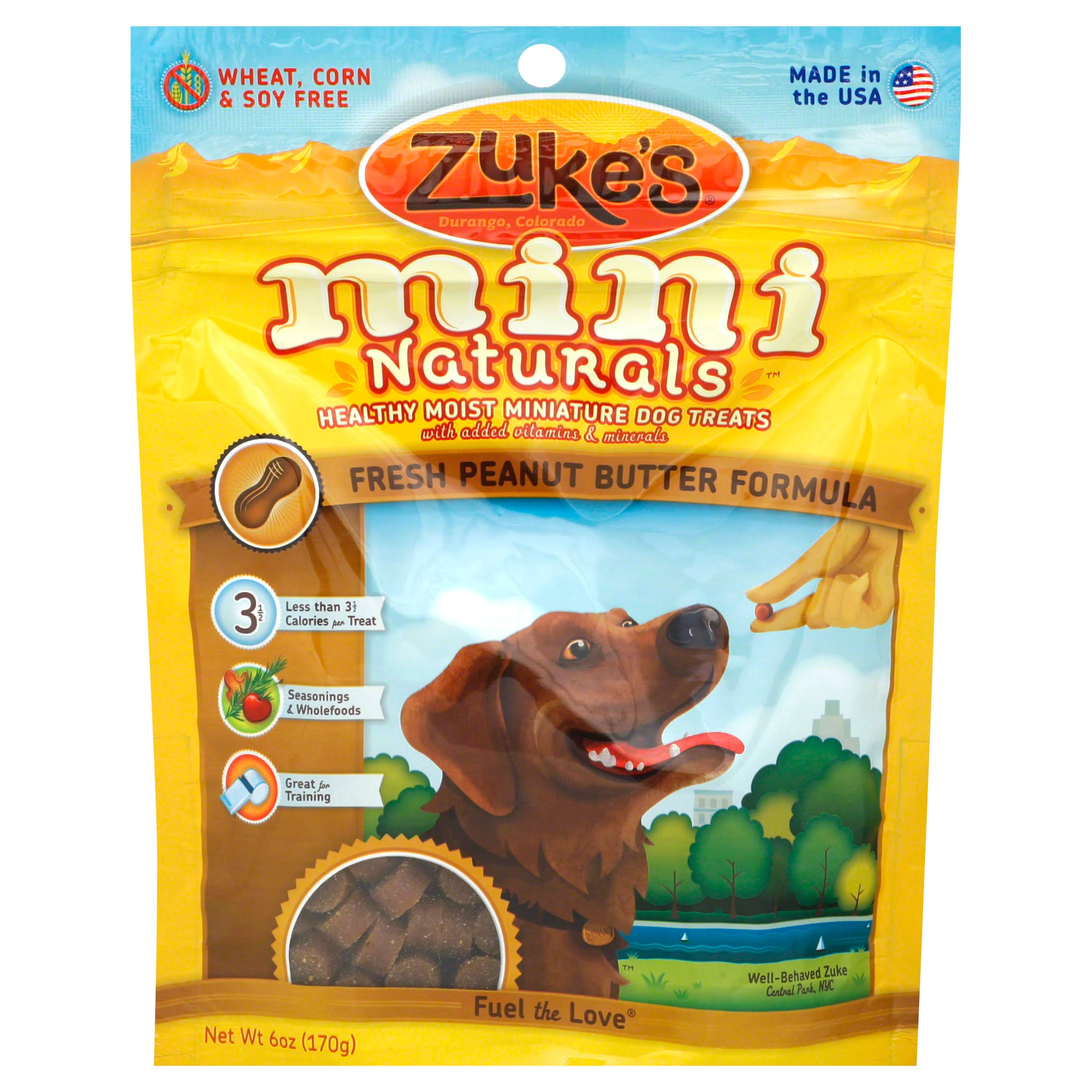 Zuke's Mini Naturals Dog Treats - Peanut Butter Formula
