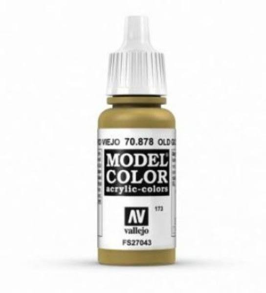 Vallejo Model Color Acrylic Paint - Metallic Old Gold, 17ml