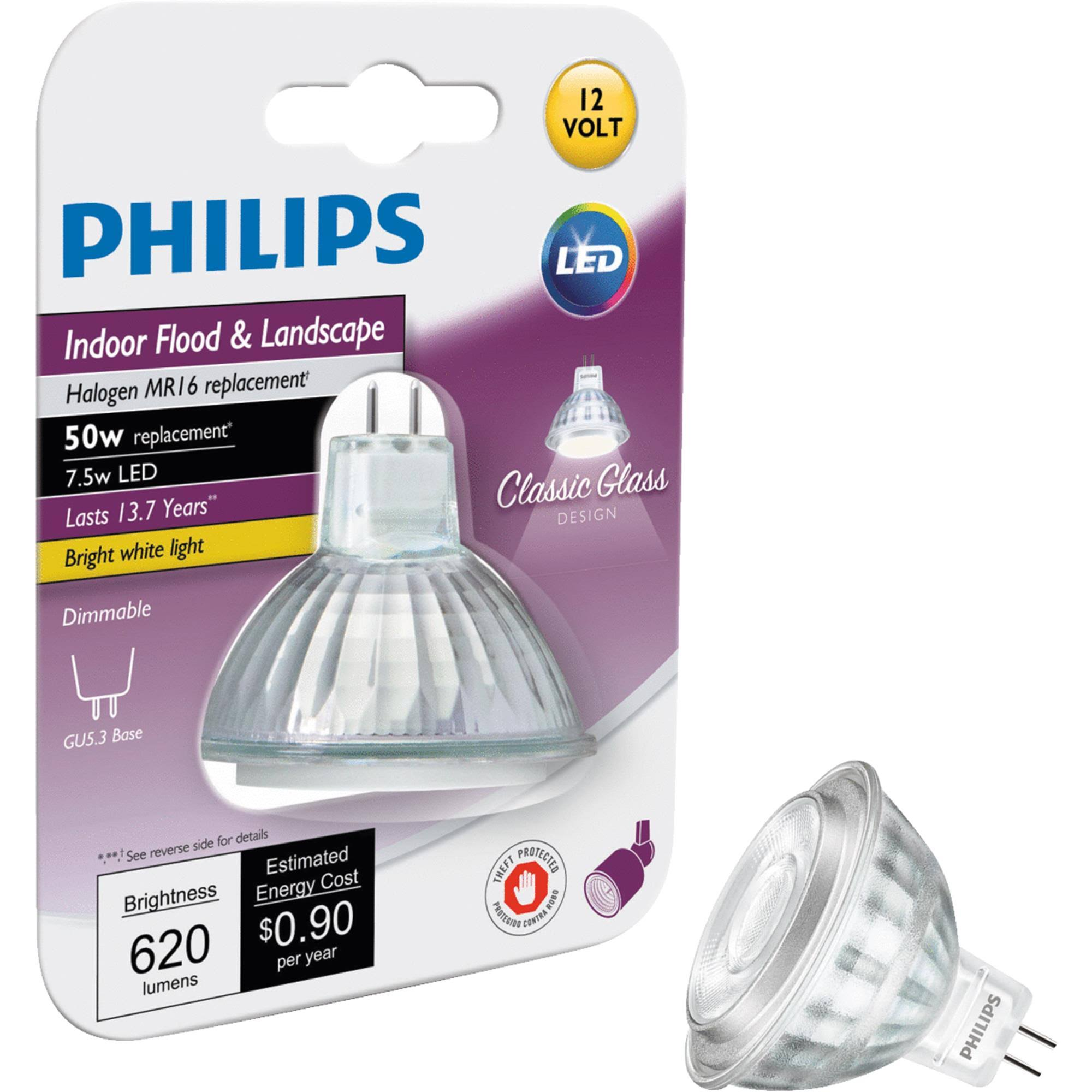 Philips MR16 Dimmable LED Light Bulb - 7.5W