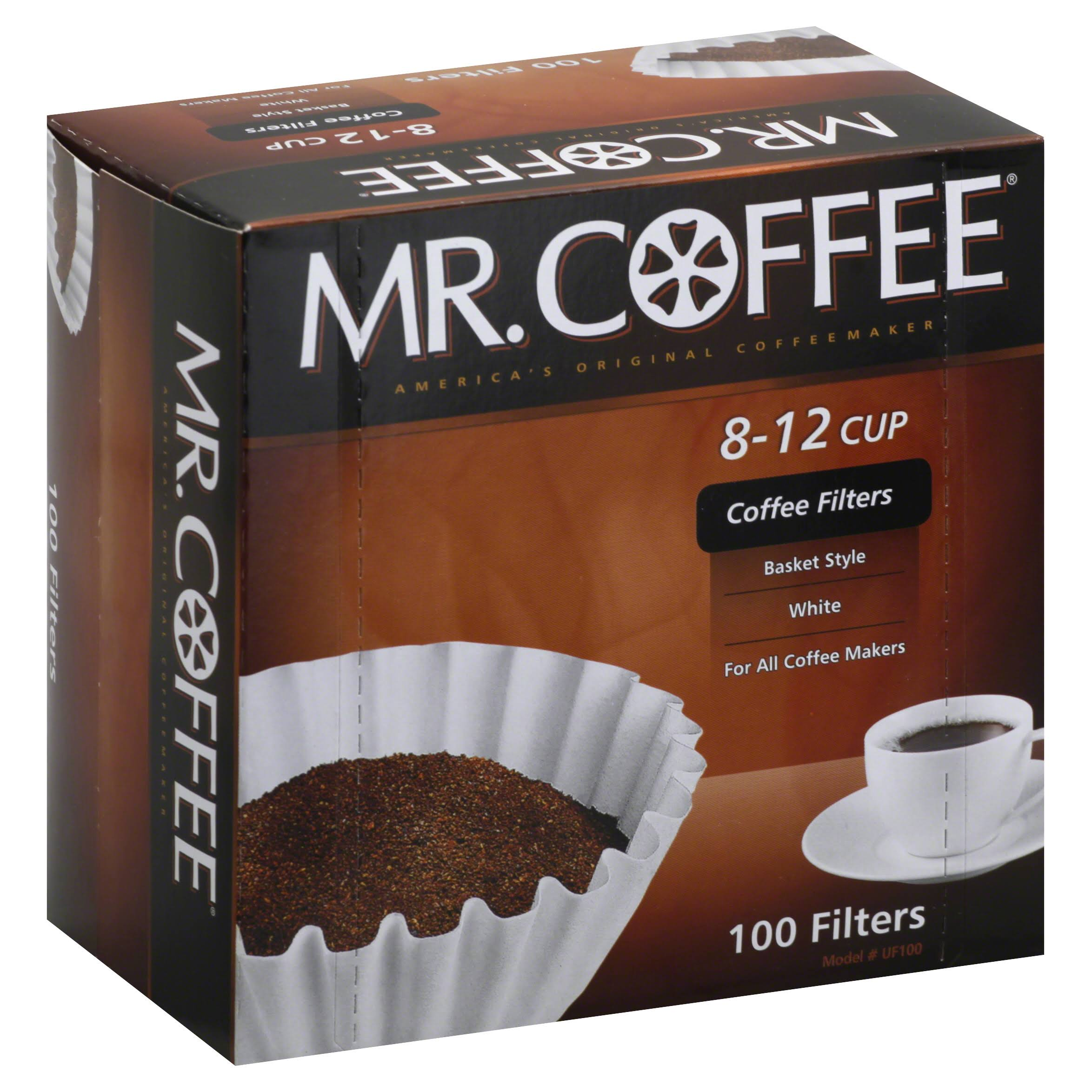 Mr Coffee Coffee Filters, White, 8-12 Cup - 100 filters