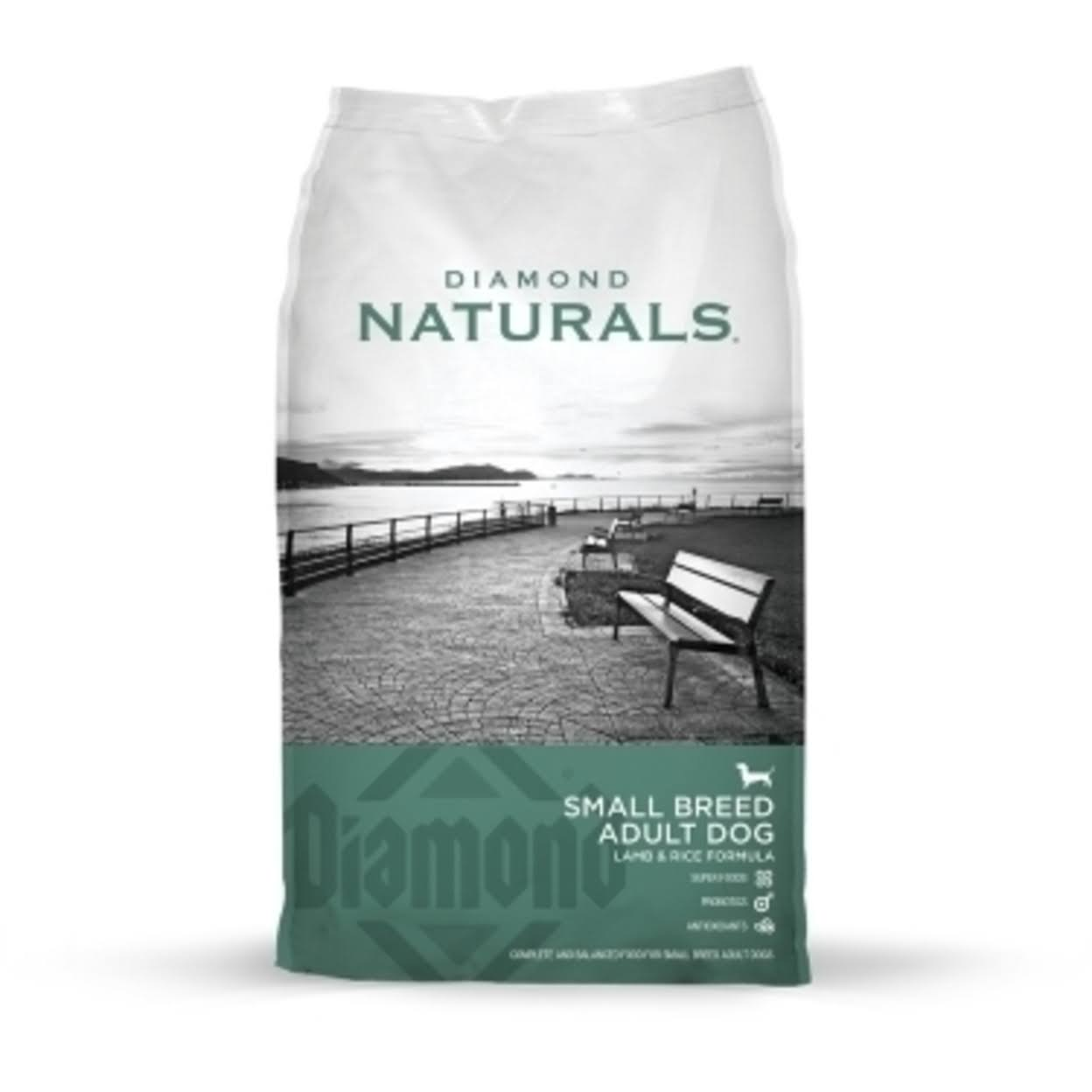 Diamond Naturals Dry Food for Small Breed Adult Dogs - Lamb and Rice Formula