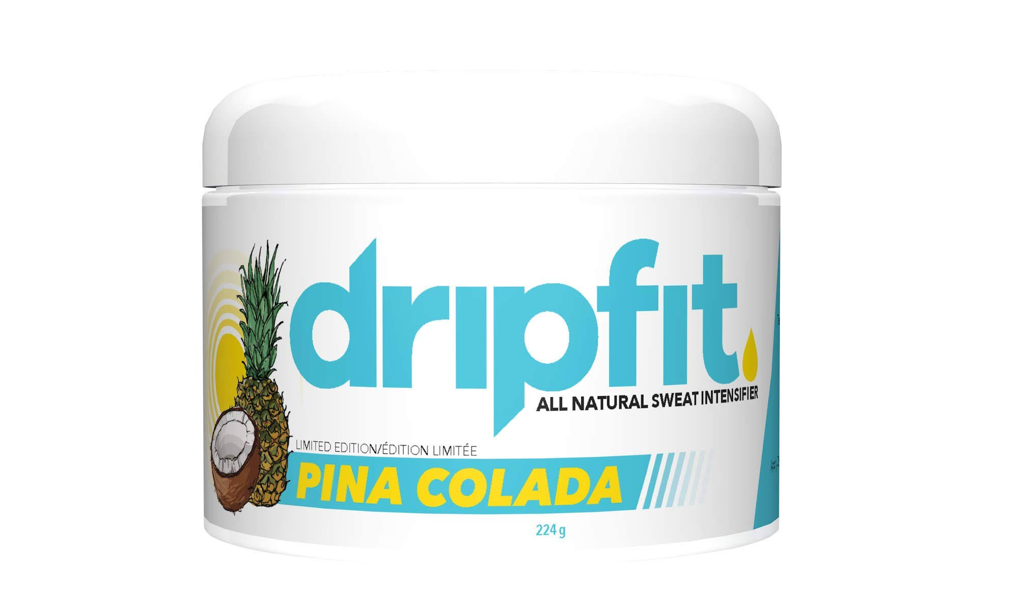 Drip Fit 8oz Cream - 100% Natural Sweat Intensifier (Pina Colada)