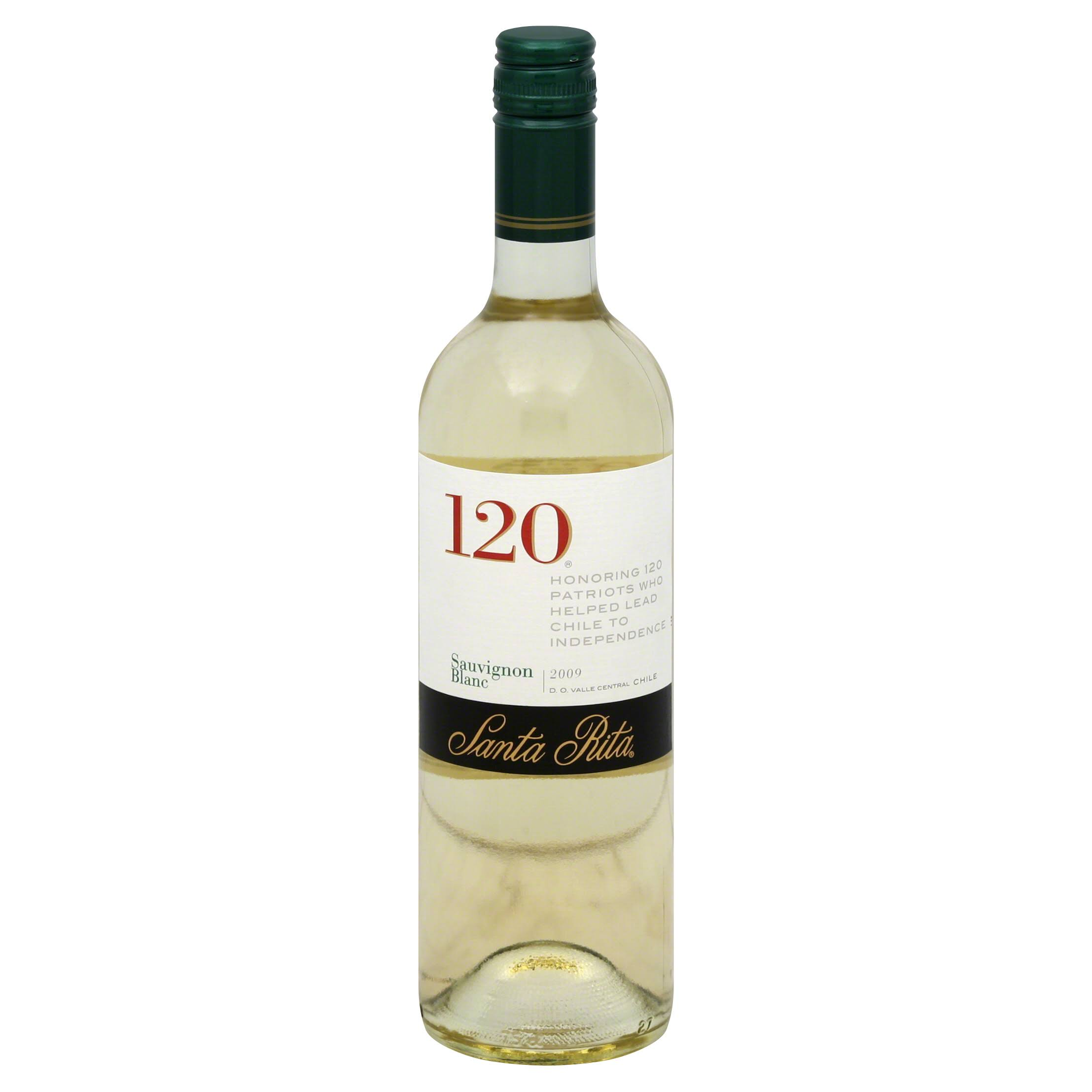 Santa Rita Sauvignon Blanc, 120, Valle Central Chile, 2009 - 750 ml