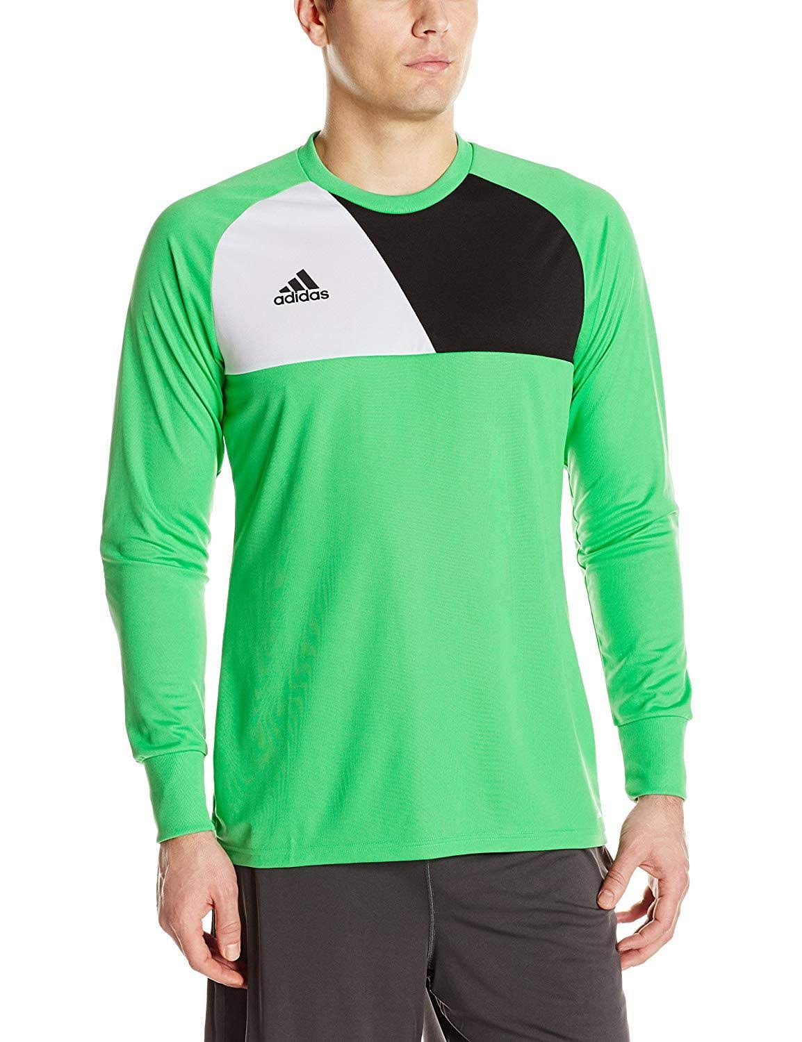 Adidas Men's Assita 17 Goalkeeper Long Sleeve Shirt - Green/Black/White, Small