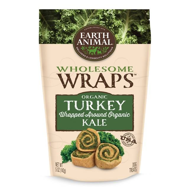 Earth Animal Wholesome Wraps Dog Treats - Turkey Kale Spiral Treat, 5oz