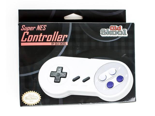 Old Skool SNES Super Nintendo Controller Game Pad