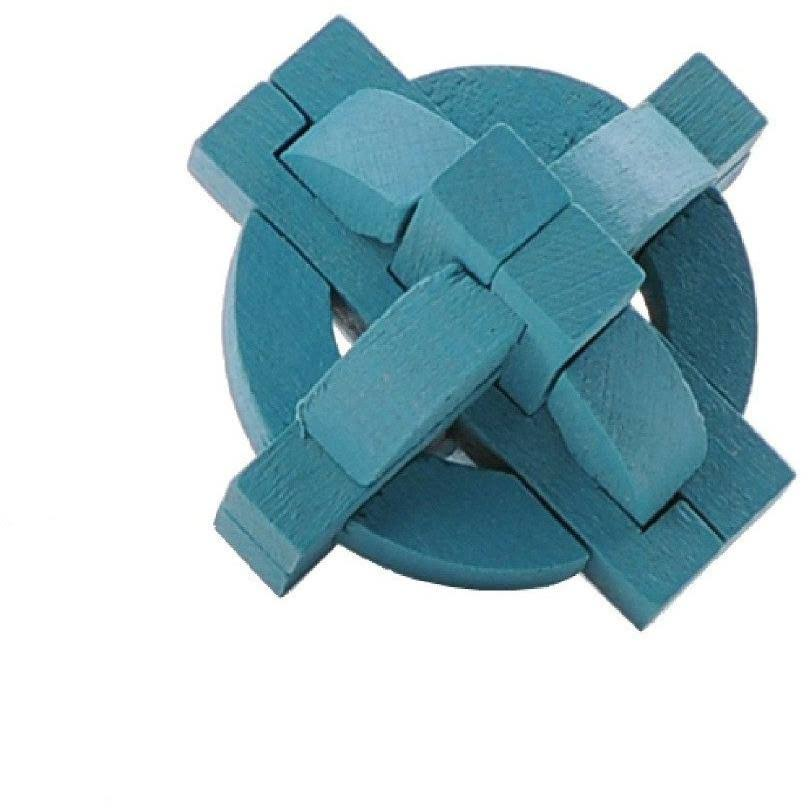 Mini 3D Wooden Puzzle - Blue