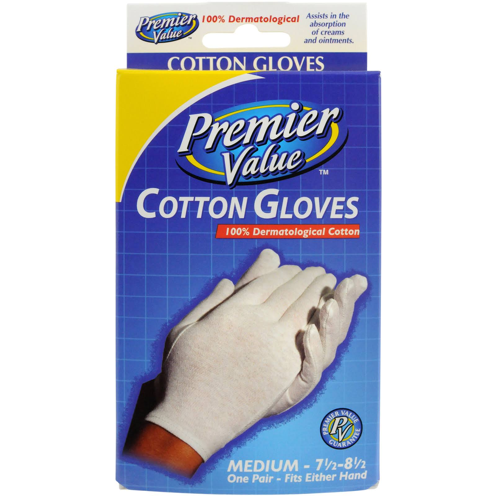 Premier Value Cotton Glove­ - Medium, 1 Pair
