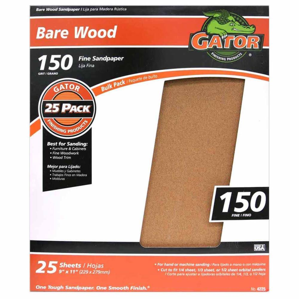 Gator 3274 Sanding Sheet, 11 in x 9 in, 150 Grit
