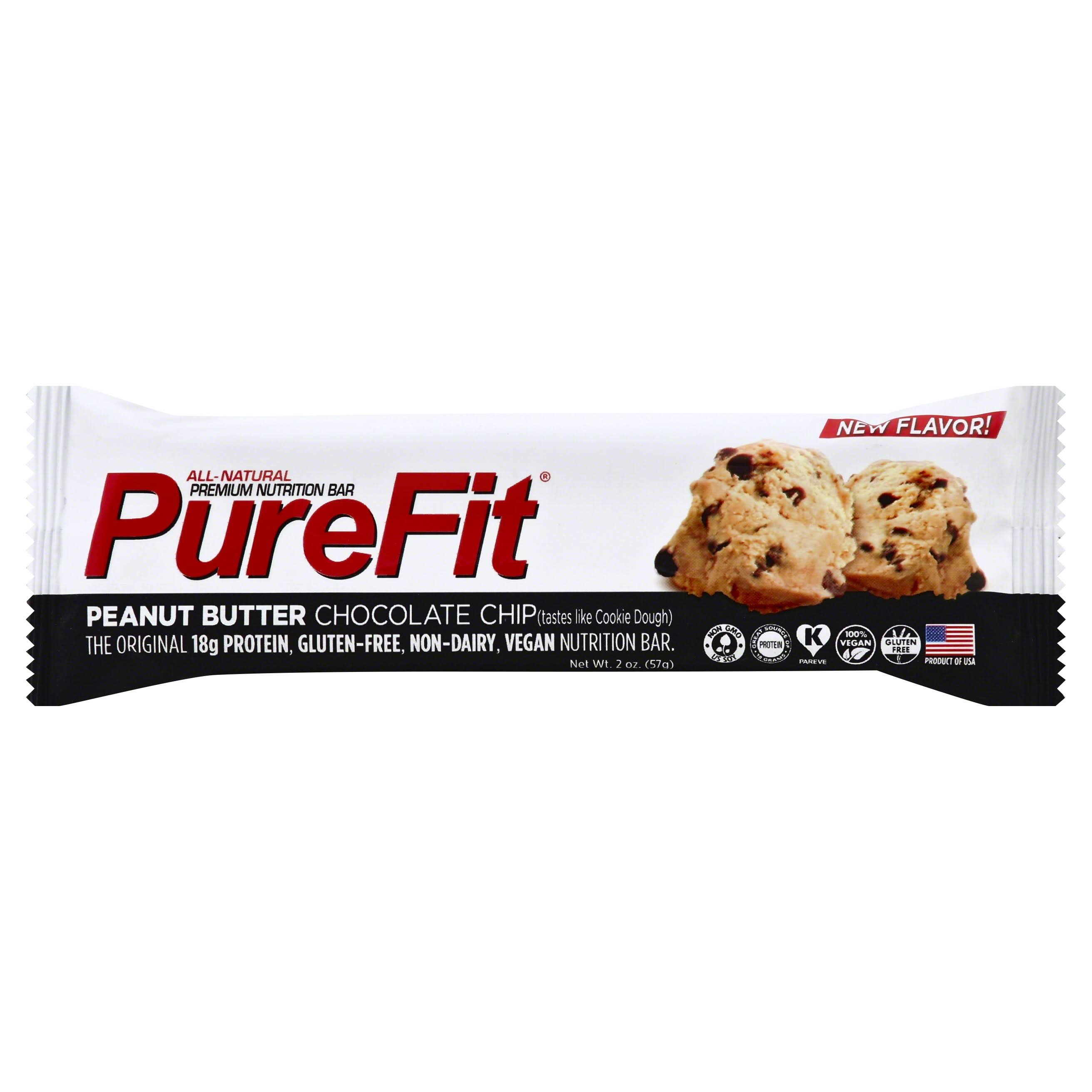 PureFit Nutrition Bar, Premium, Peanut Butter Chocolate Chip - 2 oz