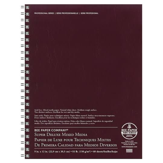 "Aquabee Paper Super Deluxe Sketch Pad - 9"" X 12"", 60 Sheets"