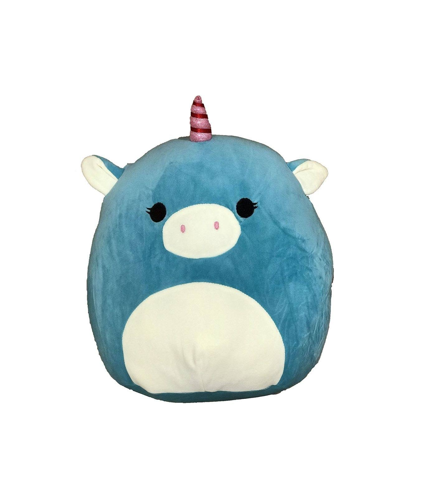 Kellytoy Squishmallow Ace the Unicorn Soft Plush Toy - Turquoise, 8""