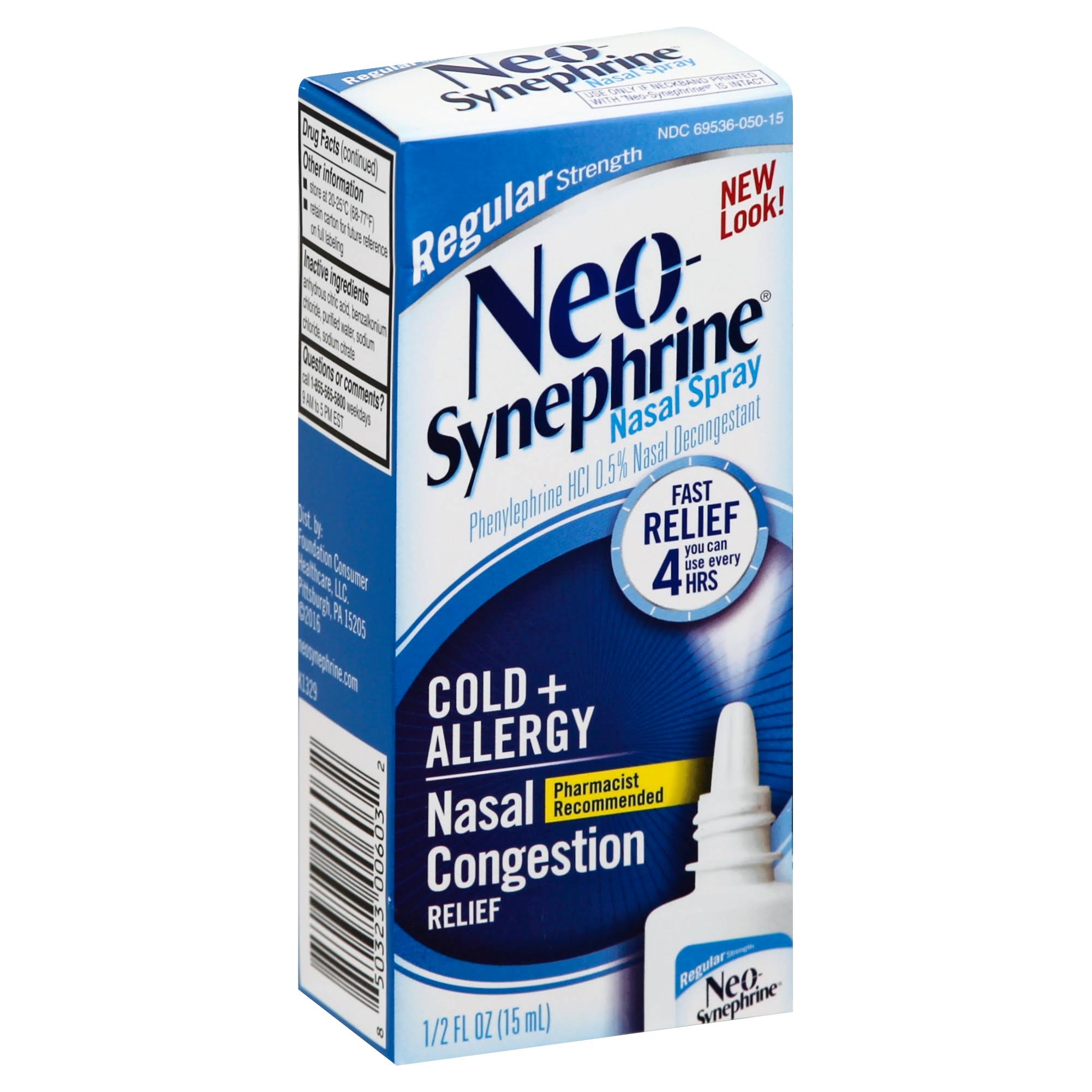 Neo-Synephrine Regular Strength Nasal Decongestant Spray - 0.5oz