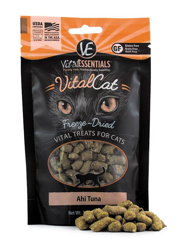 Vital Essentials Cat Freeze-Dried Ahi Tuna Treats - 1.1 oz.