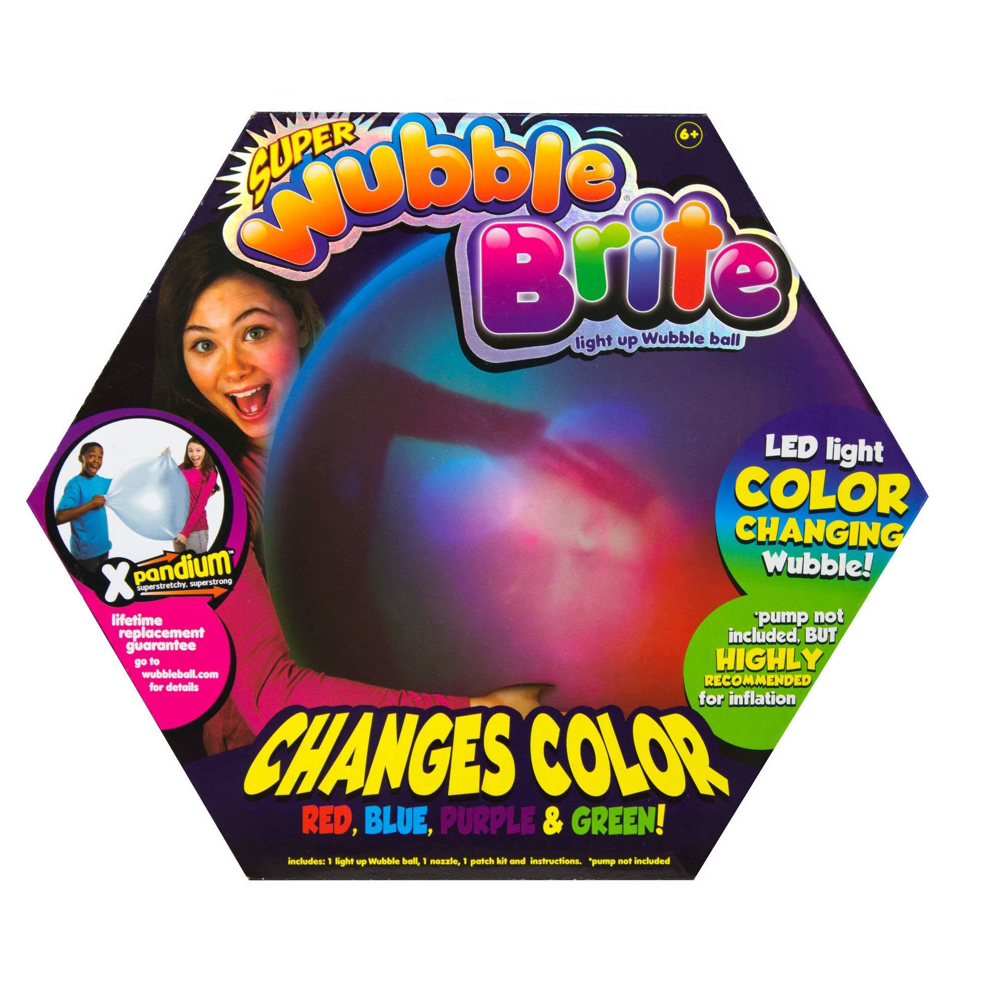 Super Wubble Brite Light Up Color Changing Wubble Ball