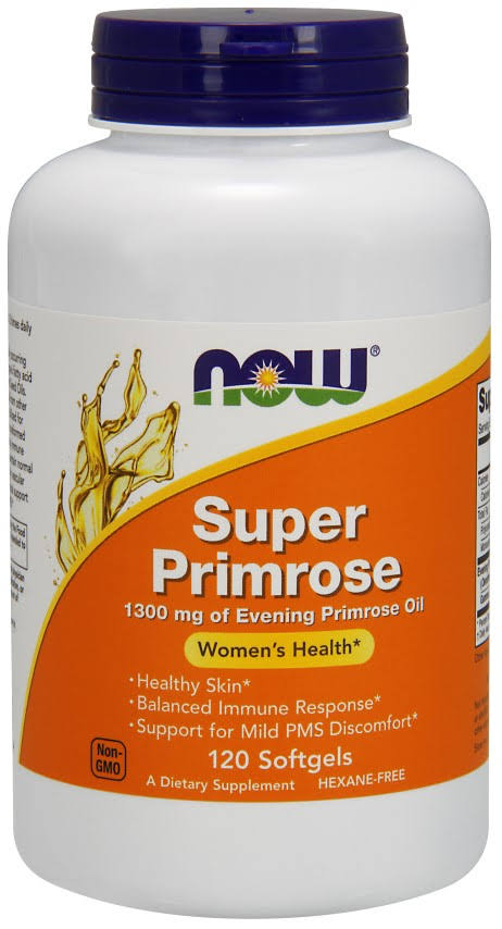 Now Foods Super Primrose 1300Mg Dietary Supplement - 120 Softgels