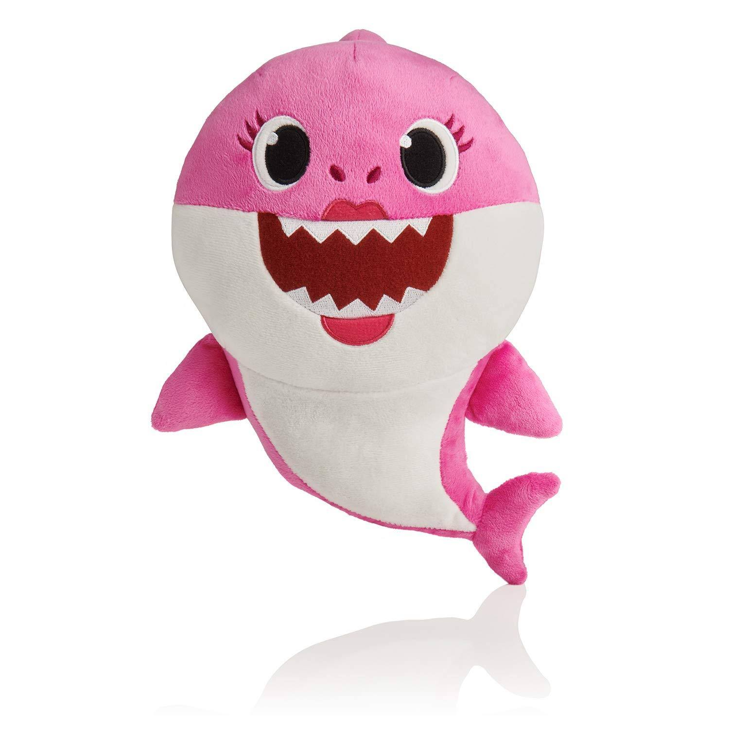 Pinkfong Shark Family 11 inch Sound Plush - Mommy Shark Pink