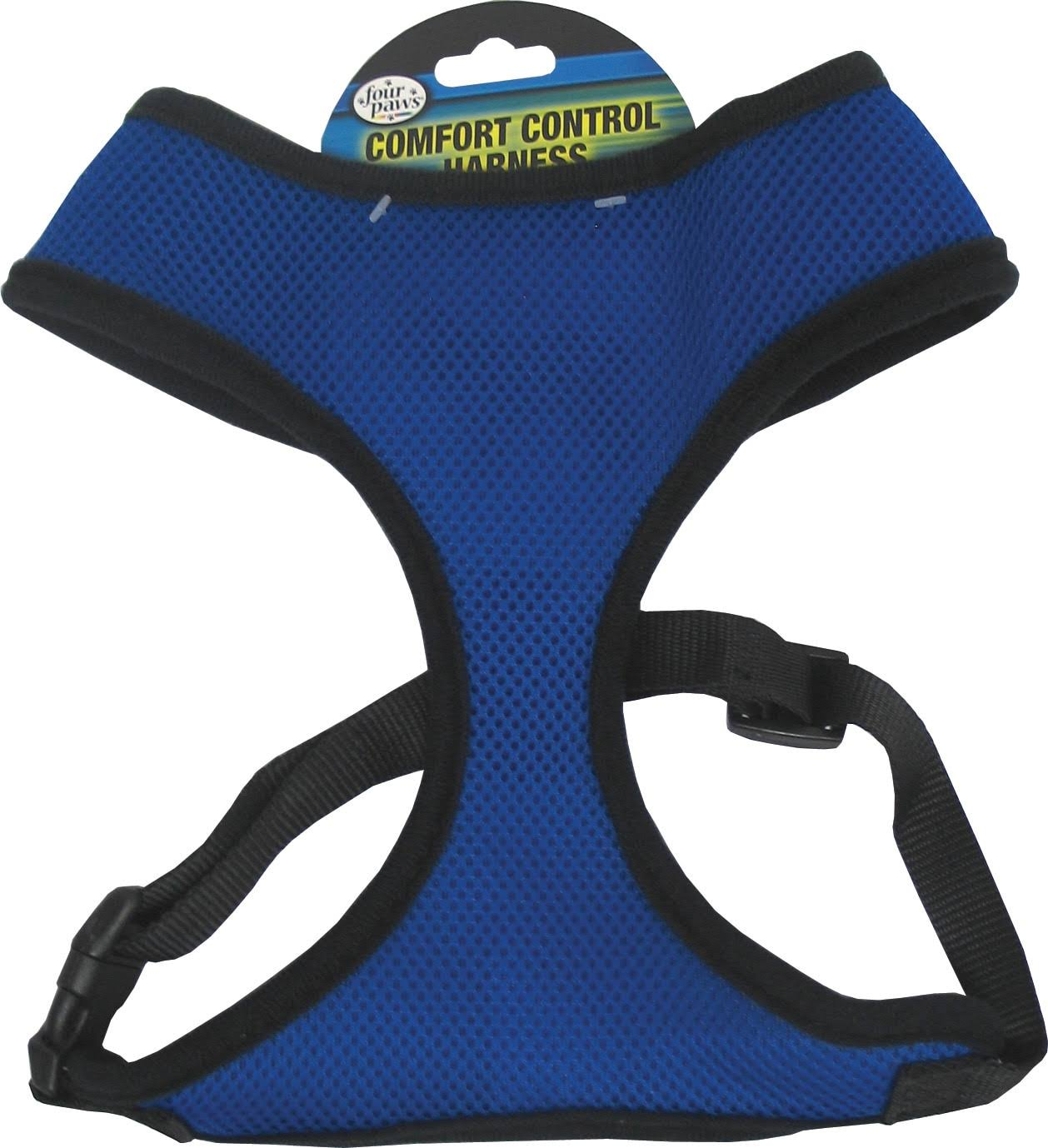 Four Paws Comfort Control Dog Harness - Blue, Small