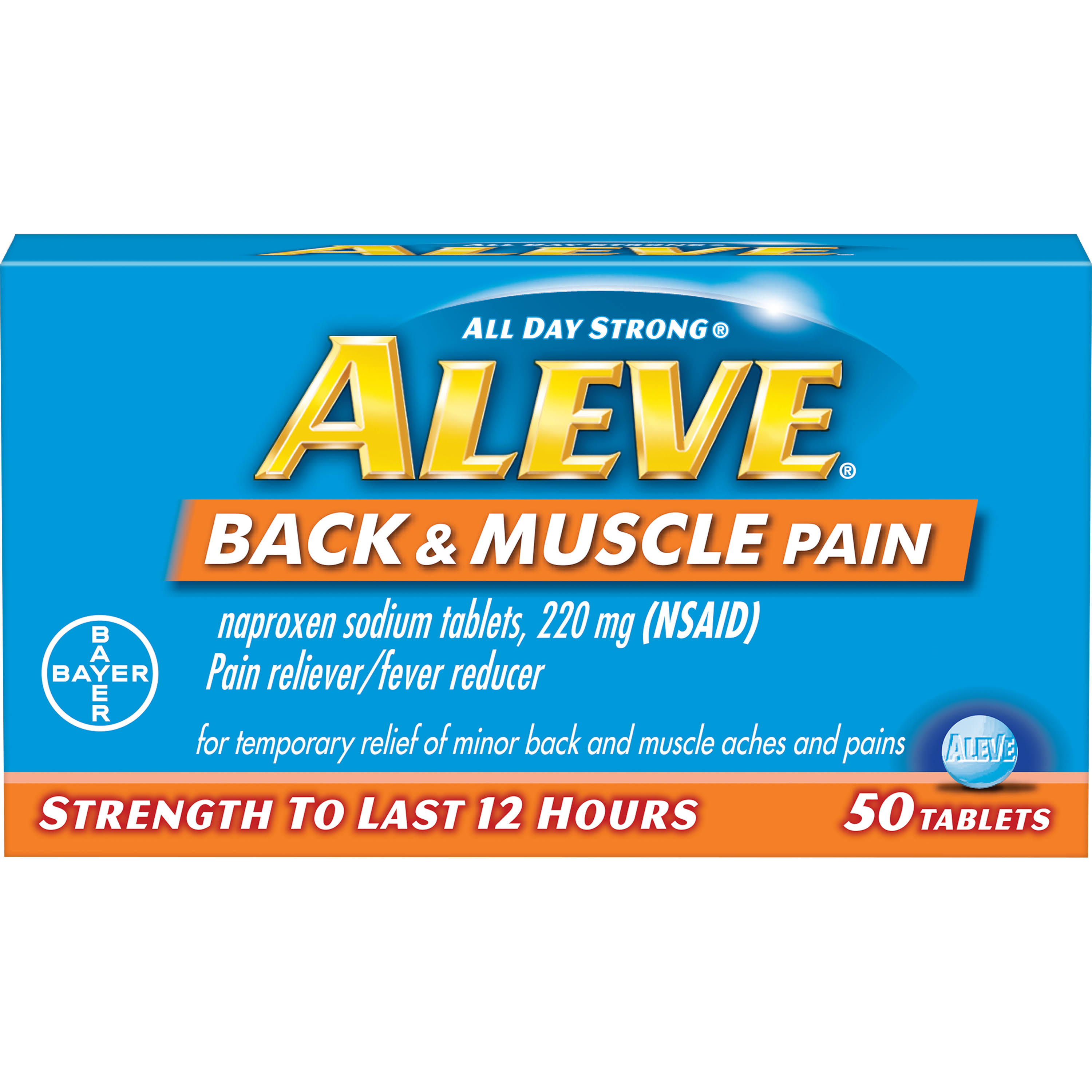 Bayer Aleve Back & Muscle Pain Tablets - 50ct