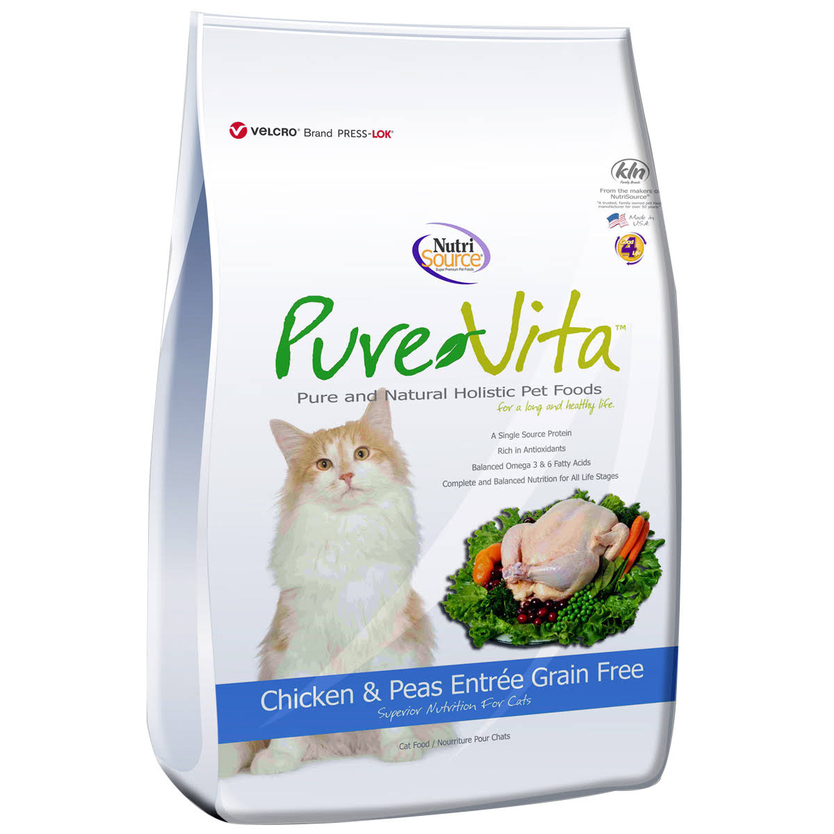 Pure Vita Grain Free Cat Food - Chicken, Dry, 6.6lb