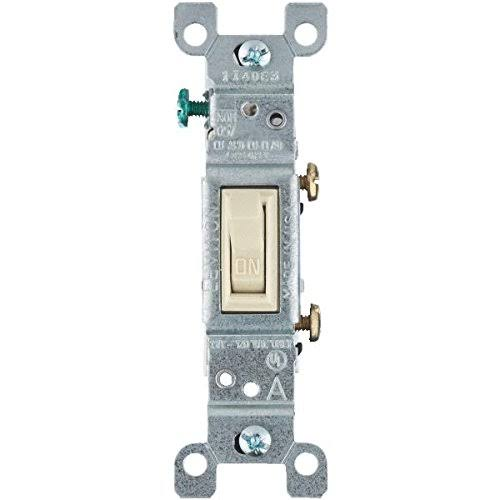 Leviton Single Pole Toggle Switch - Ivory, 15 Amps 120V