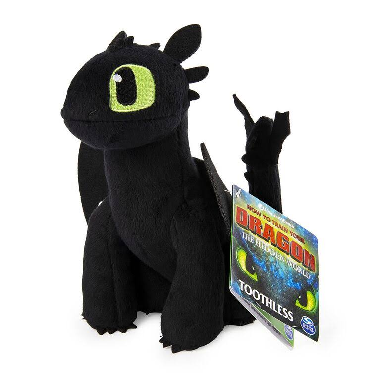 Toothless How to Train Your Dragon Hidden World Spin Master Plush Toy - 7""