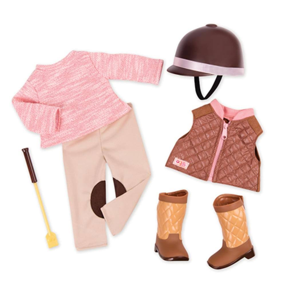 Our Generation Doll Riding Outfit Deluxe Set - Pink