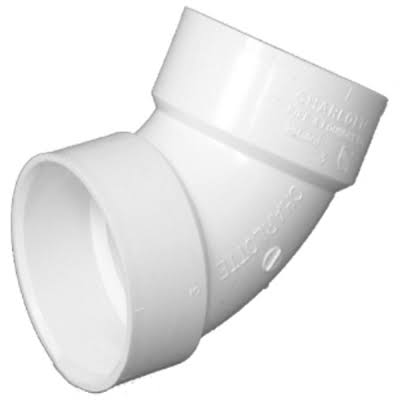 Charlotte 319 White PVC Elbow - 1 1/2""