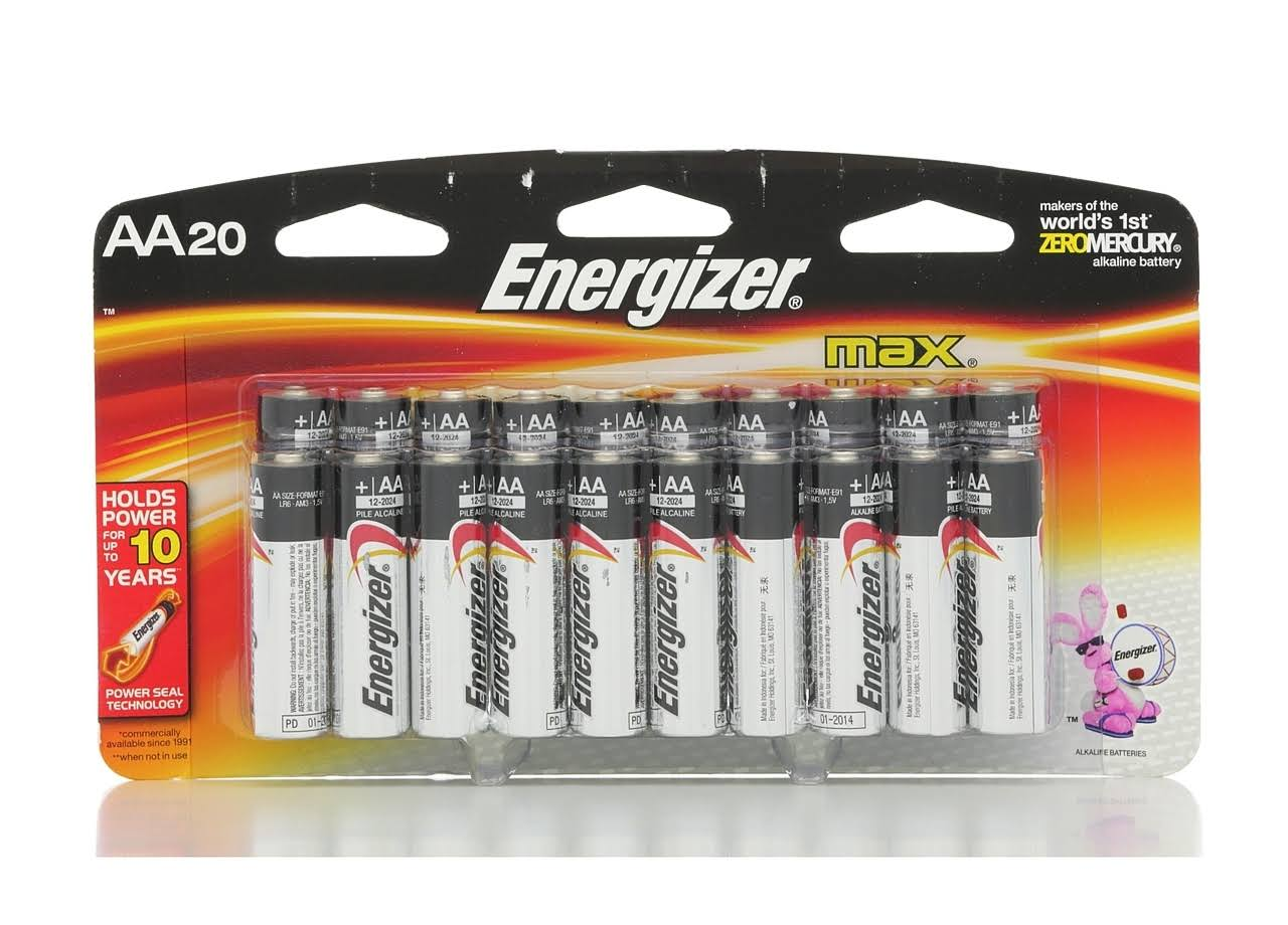 Energizer Max AA Alkaline Battery - 20ct