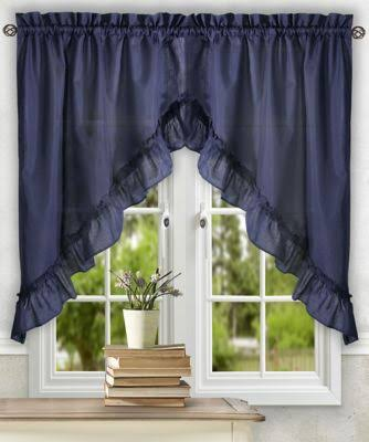 Ellis Curtain Stacey Swag - 60x38 Black