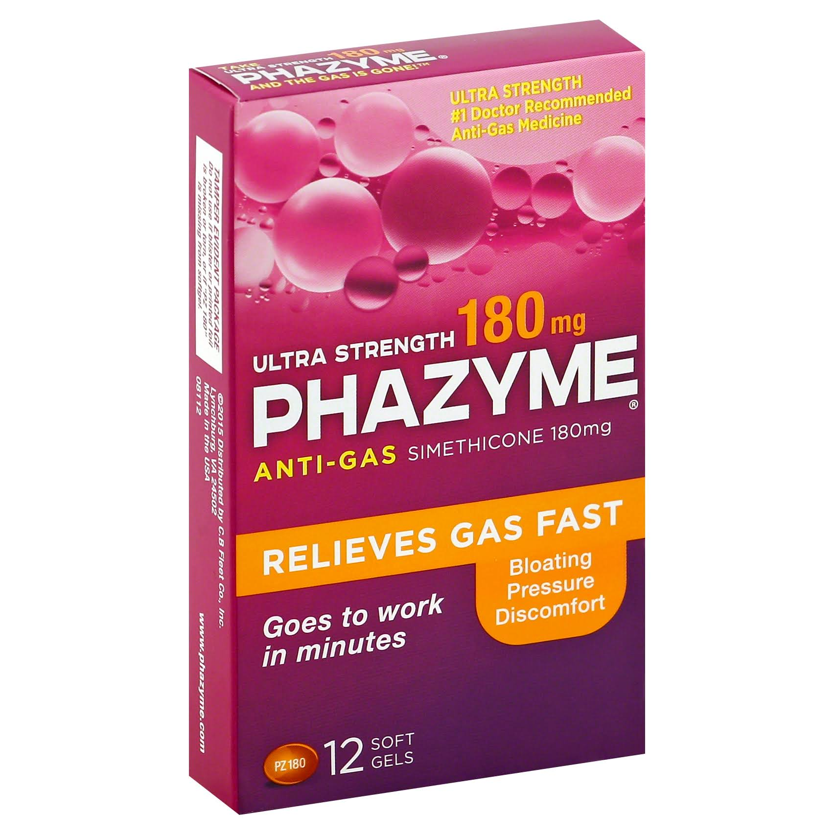 Phazyme Ultra Strength Anti Gas Simethicone Softgels - 12ct