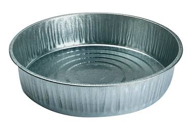 Miller Galvanized Feed Pan - Silver, 13qt