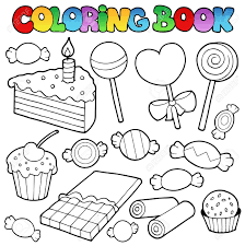 Cake Decorating Books Free by Coloring Book Candy And Cakes Illustration Royalty Free Cliparts