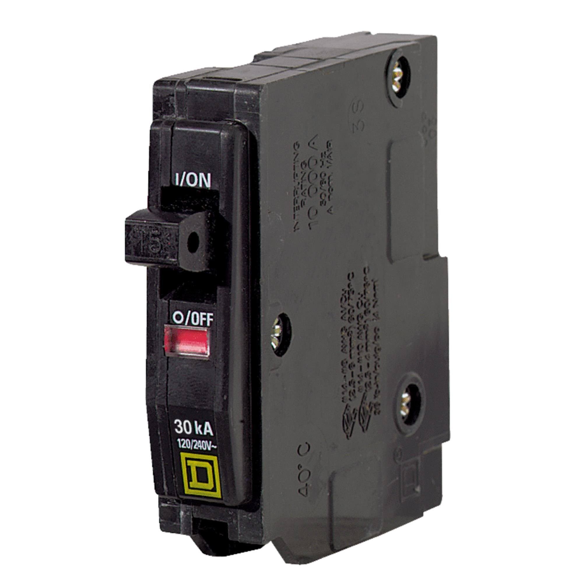 Square D QO Single-Pole Circuit Breaker - 30Amp