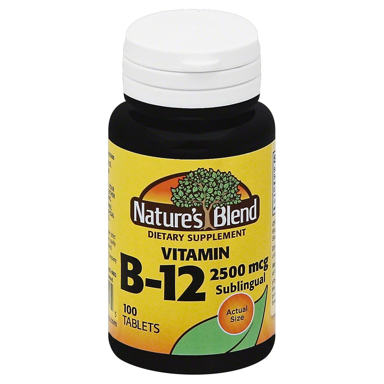 Nature's Blend Vitamin B-12 2500mcg Tablets